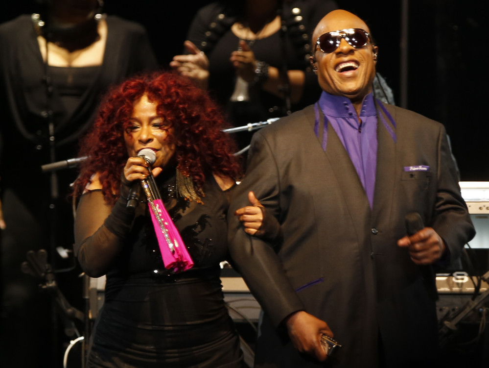 Chaka Khan and Stevie Wonder perform Thursday in St. Paul, Minn., in a concert honoring Prince who died in April.