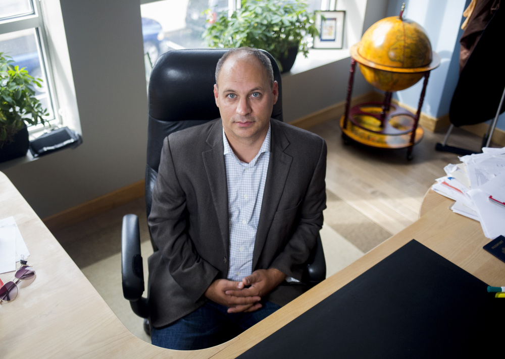 Jason Levesque then-CEO of Lewiston-based Argo Marketing, photographed in 2016.
