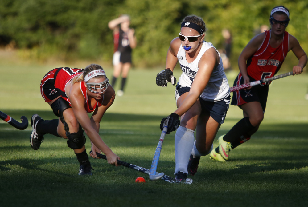 Junior midfielder Camryn LaPierre, seen in action Sept. 24 against Scarborough, says the Blazes know that one goal can be enough to give them a win because