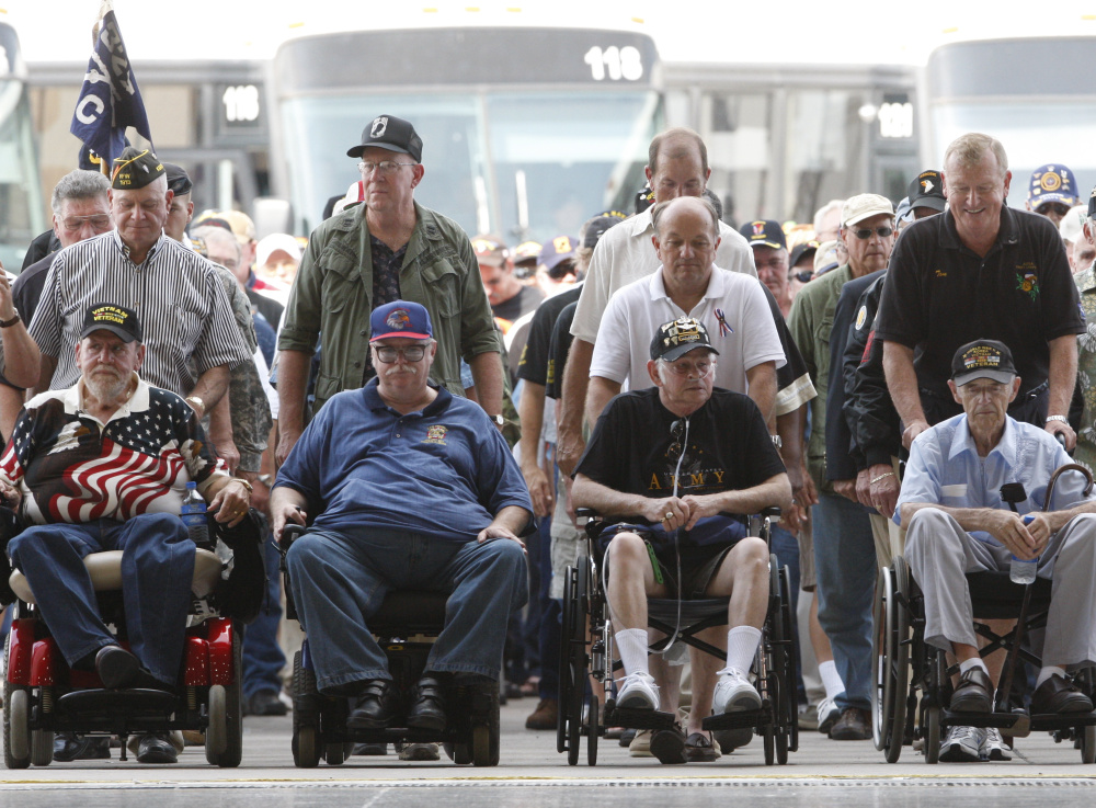 Though slowed by age and wounds, veterans such as these former Vietnam-era troops being honored at Fort Campbell, Ky., in 2009 remain a powerful voting constituency.