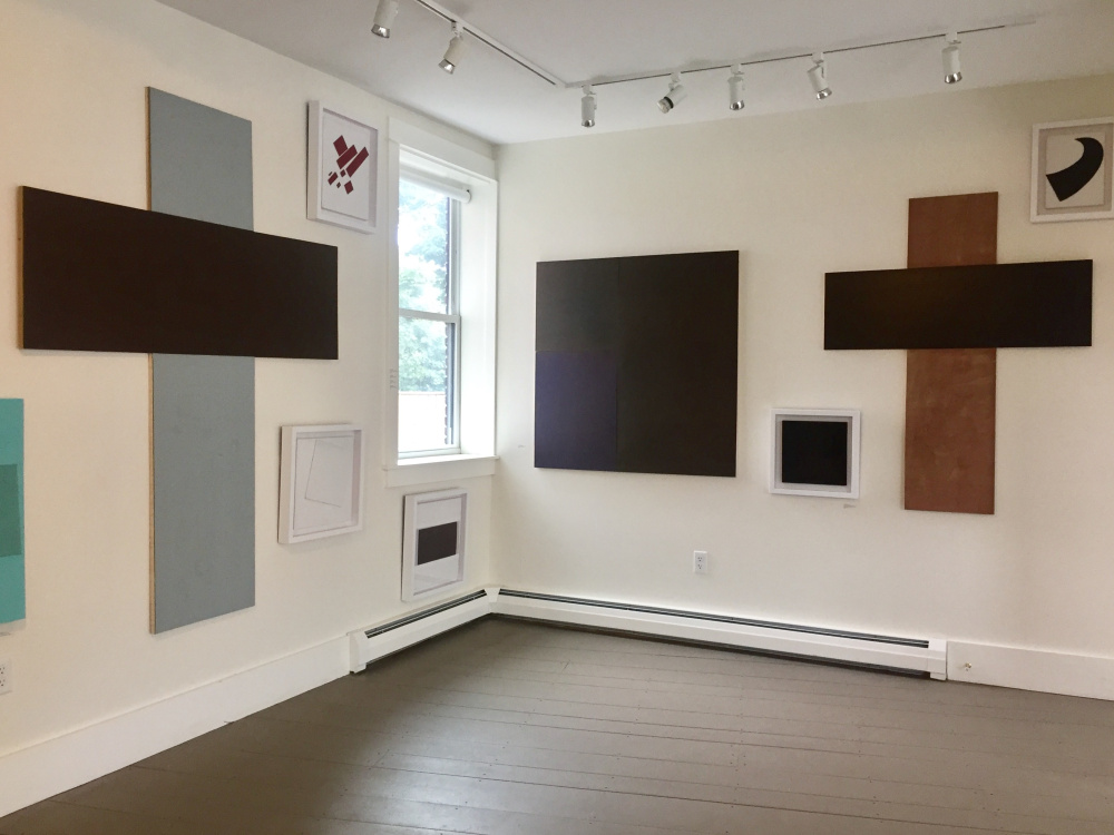 Installation view of paintings by Howard Greenberg at PhoPa Gallery.