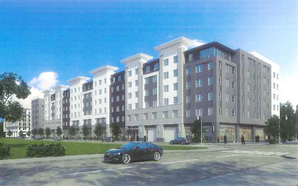 A third round of potential changes to a project planned for the Bayside neighborhood of Portland would be the latest in the history of the five-year project. City Manager Jon Jennings recently told about 30 residents that the developer is interested in constructing taller buildings than currently planned and adding hotel and office uses to a mix that had included housing, pictured above, and some ground-floor retail, according to people who attended the Bayside Neighborhood Association's annual meeting Sunday. The project, generally called