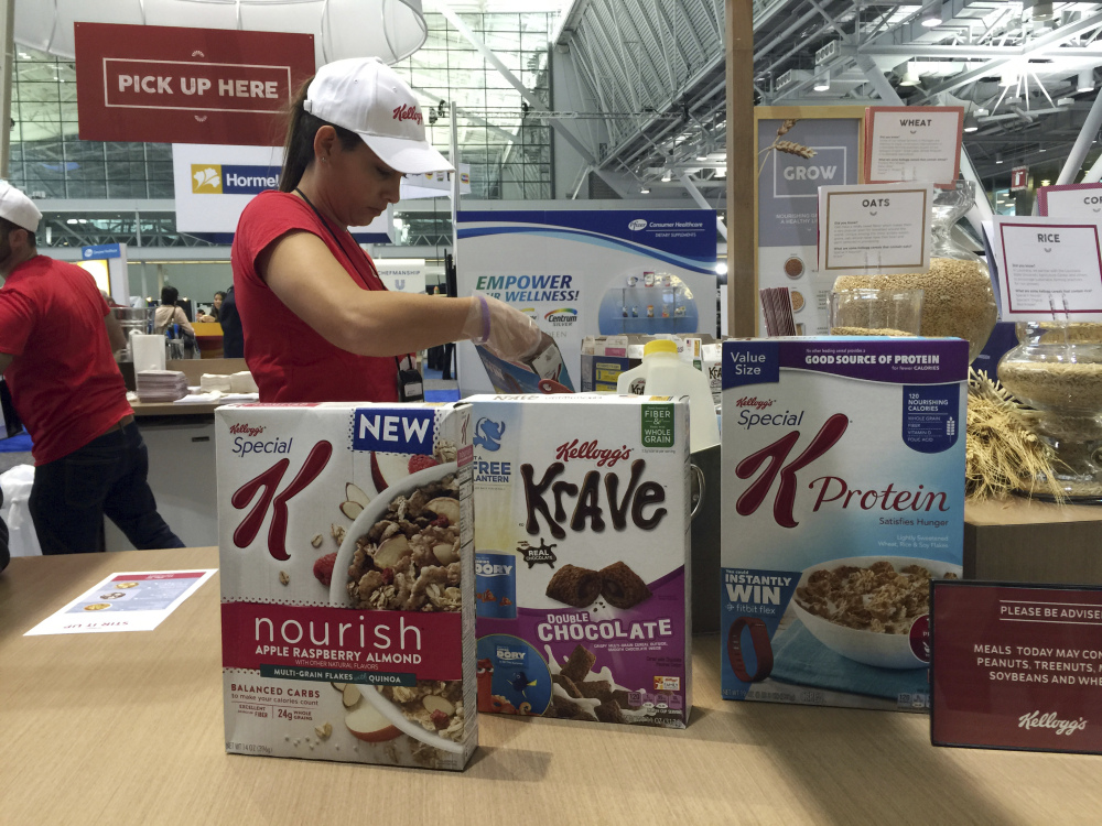 Kellogg's had a booth at an annual dietitians' conference, where company representatives explained the health benefits of their products, in Boston. The presence of major food companies underscored the conflict-of-interest issues in the nutrition field.