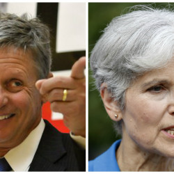 Gary Johnson and Jill Stein