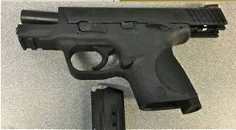 Police say this stolen handgun was recovered from a Sanford pawn shop.