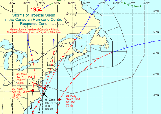 The hurricane season of 1954 remains one of the most active for New England