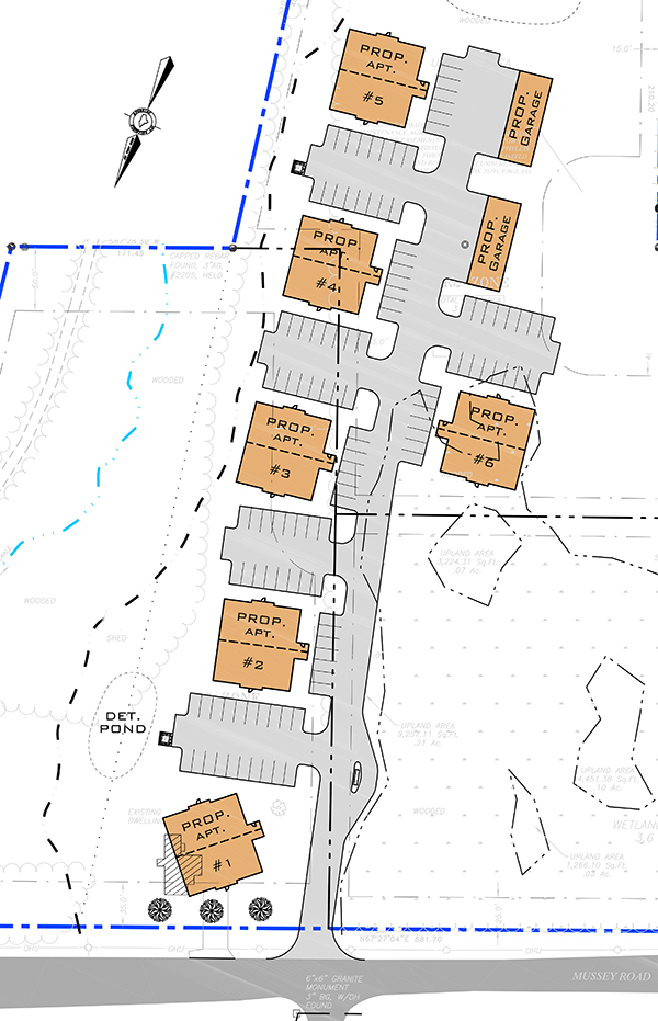 Schematic of the proposed Mussey Road subdivision submitted to Scarborough town planners by Risbara Properties.