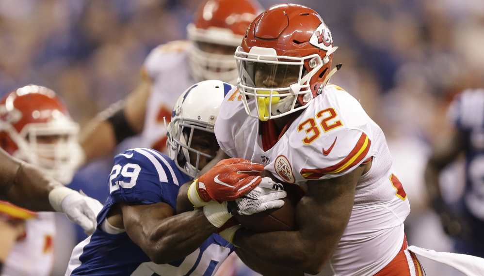 Running back Spencer Ware of the Kansas City Chiefs won't be able to play Sunday against the Jacksonville Jaguars because he hasn't been cleared to return following a concussion.