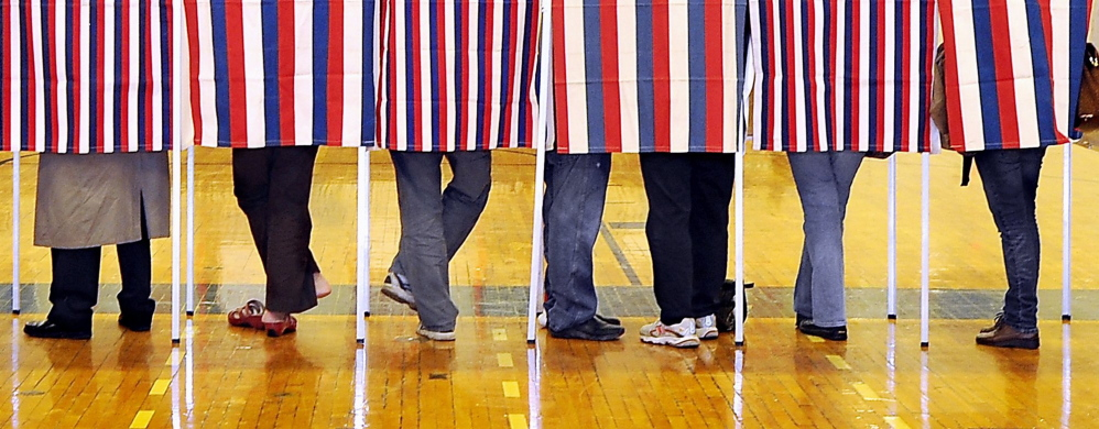 Maine voters use paper ballots, which are counted by hand or by a machine that is not connected to the internet, so hacking is not a possibility.