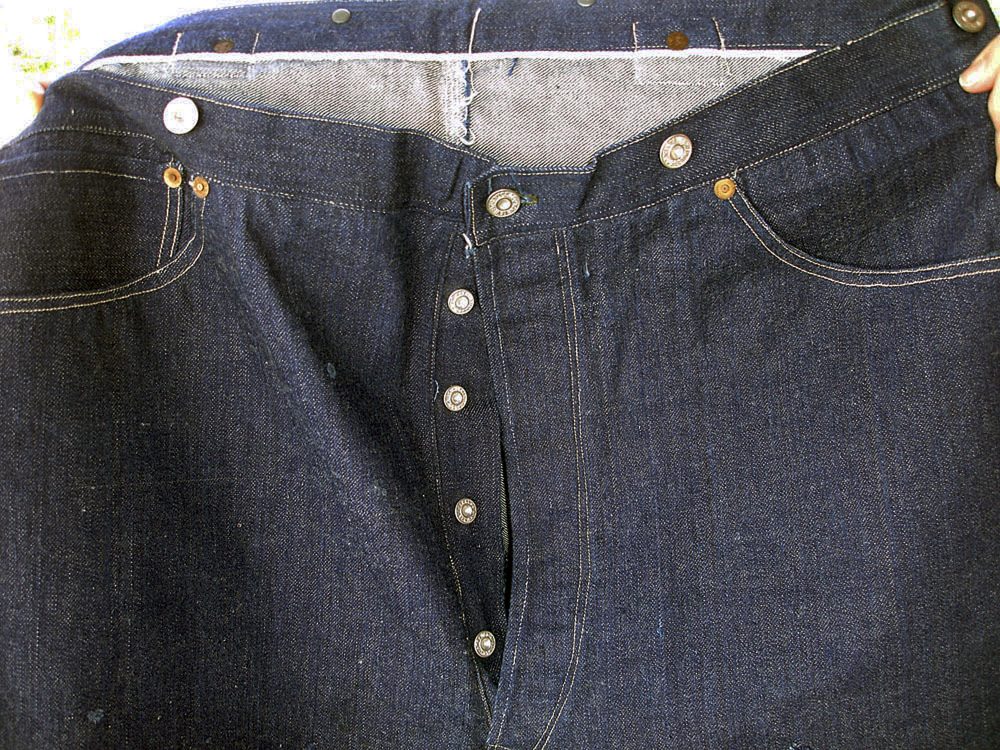 This pair of 1893 Levi-Strauss denim blue jeans in pristine condition will go up for auction in the near future. The jeans were ordered for Solomon Warner, a businessman and pioneer of the Arizona Territory.