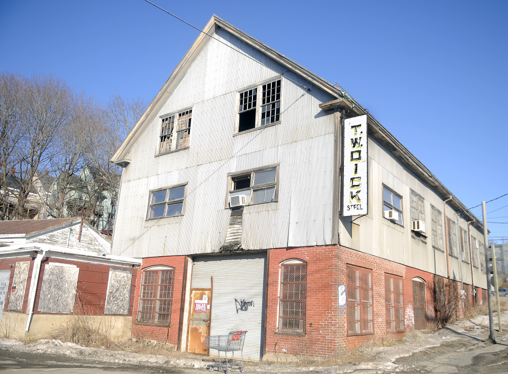 The former T.W. Dick complex in Gardiner is scheduled to be torn down starting this week.