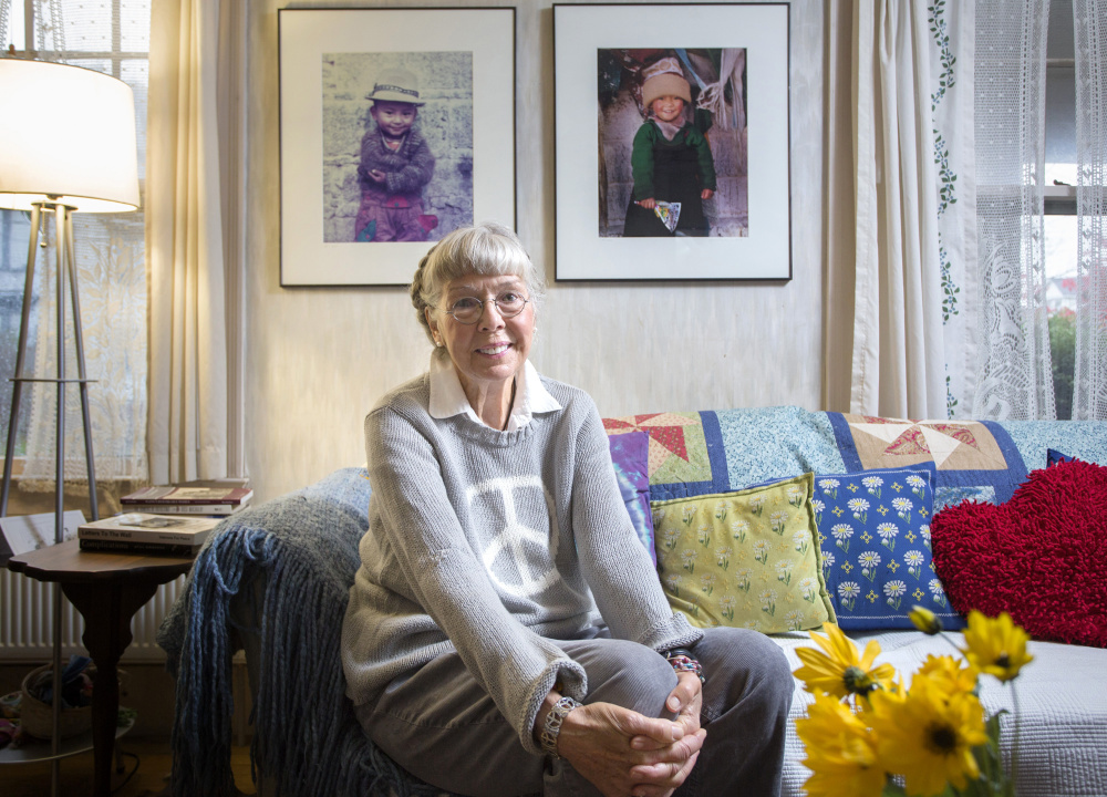 Peggy Akers, an Army nurse in the Vietnam War, at her home in Portland.