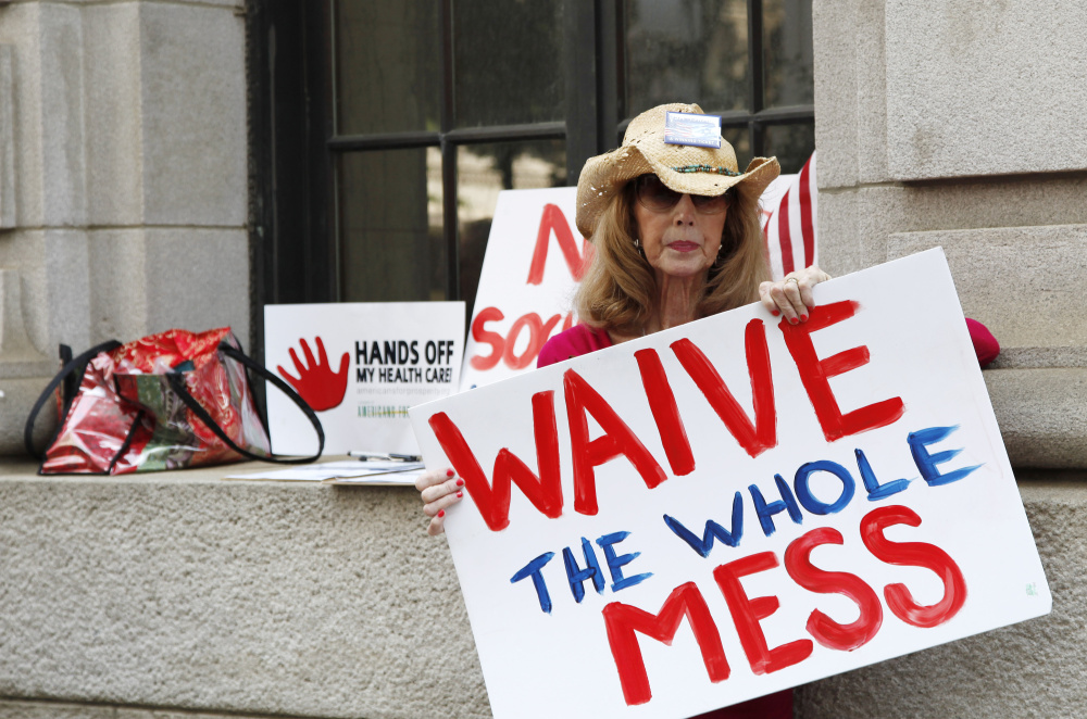 Betsy Burgess, of Georgia, joined protests in 2011 against the Affordable Care Act, which President-elect Trump has vowed to scrap. Associated Press/John Bazemore