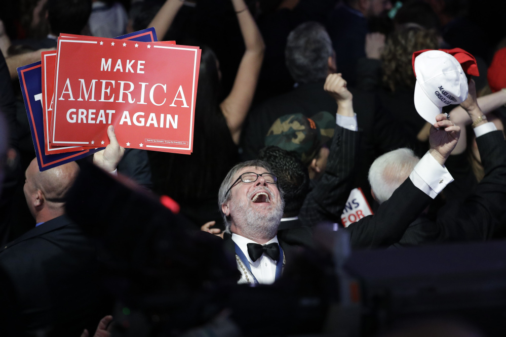 Enthusiasm for President-elect Donald Trump transcended supporters at his Tuesday night rally in New York; blue-collar workers from the Rust Belt to Appalachia also turned out in force at the voting booth, hope and change on their minds.
