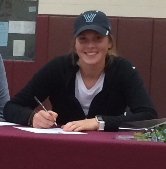 Emily Esposito of Gorham decided in May to play basketball for Villanova, and Wednesday made it official.