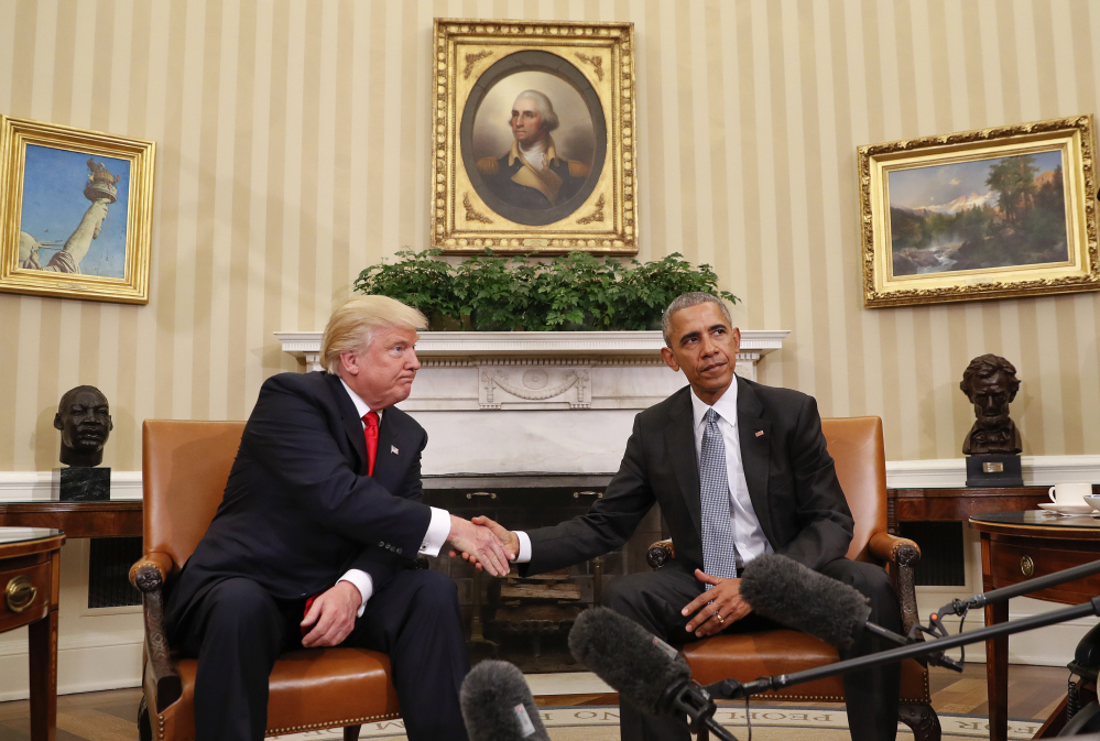 After they met in the Oval Office for the first time face-to-face, President-elect Donald Trump told President Obama
