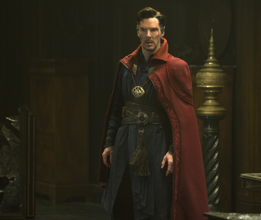 Benedict Cumberbatch appears in a scene from Marvel's