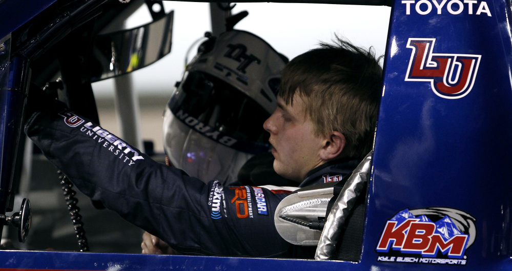 Rookie driver William Byron had a tough break Nov. 12 when his engine blew in the NASCAR Trucks race at Avondale, Ariz. Despite six wins this season, Byron was eliminated from a chance to race for the Trucks title.