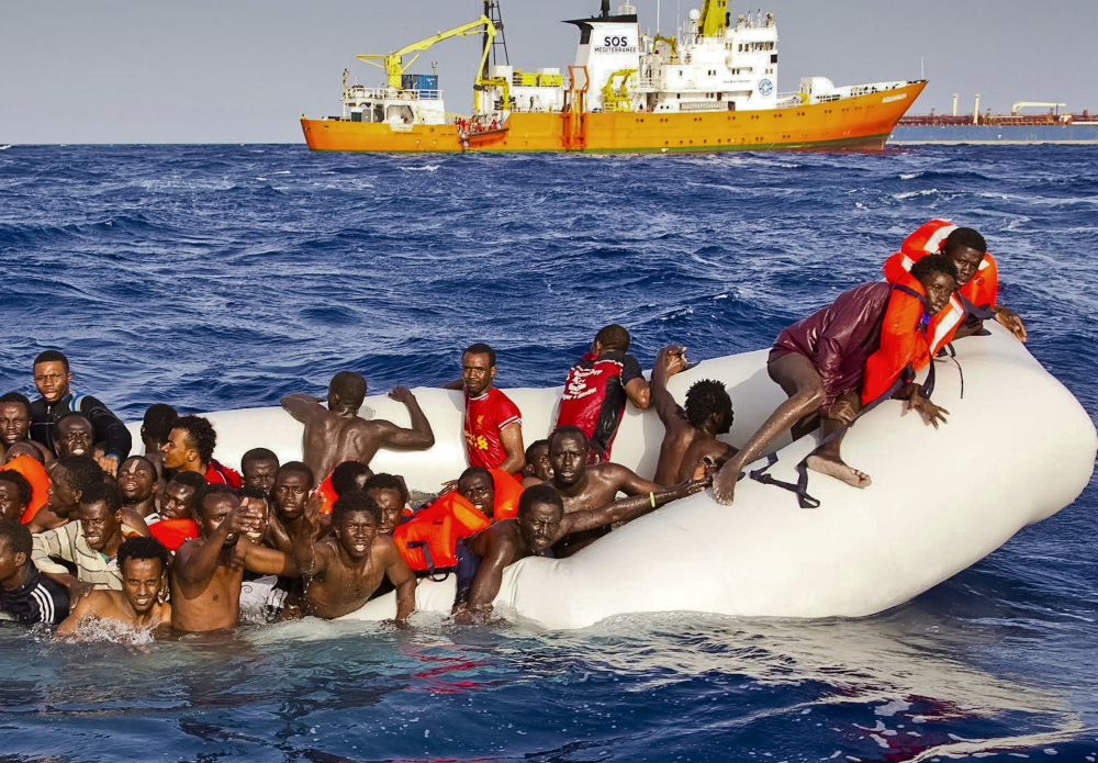 Migrants are rescued in April off Italy. An estimated 340 have died or gone missing in four shipwrecks in recent days.