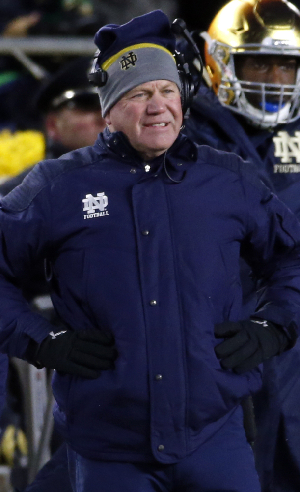 Notre Dame Coach Brian Kelly saw a poor season get worse Tuesday when the NCAA said the Irish will lose 21 victories over two seasons – 2012-13 – because of academic misconduct.
