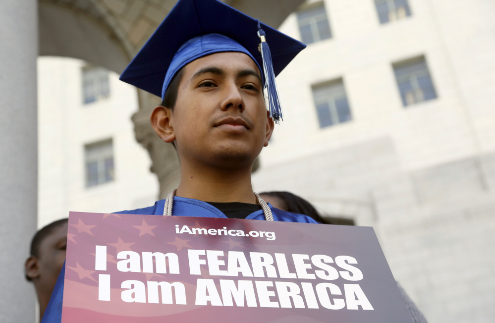 Immigrant Jose Montes attends a 2015 event in Los Angeles on an Obama administration program that gives undocumented students a temporary reprieve from deportation. Donald Trump's pledge to end the program would affect nearly 750,000 young people.