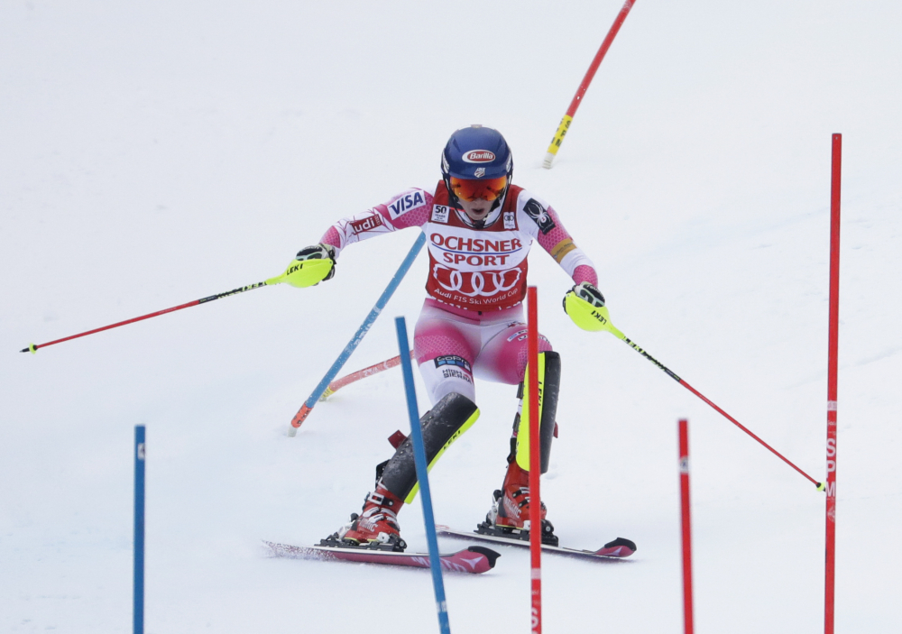 Mikaela Shiffrin, who attended Burke Mountain Academy in Vermont, celebrated her homecoming with her 22nd career World Cup victory Sunday in a slalom race at Killington, Vt.