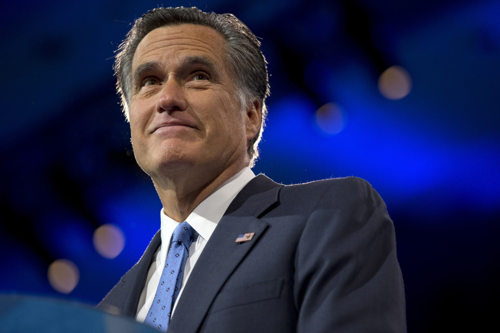 Former Massachusetts governor and 2012 Republican presidential candidate Mitt Romney, shown in 2013, is being considered for secretary of state, but President-elect Donald Trump's advisers spent the weekend criticizing him.