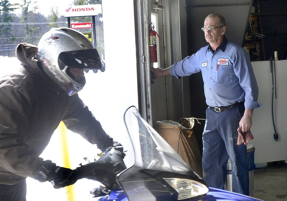 Richard Diekema opens the door at Reynolds Motorsports in Buxton. He worked there for 31 years and was the company's head mechanic. His mother said he could fix anything.