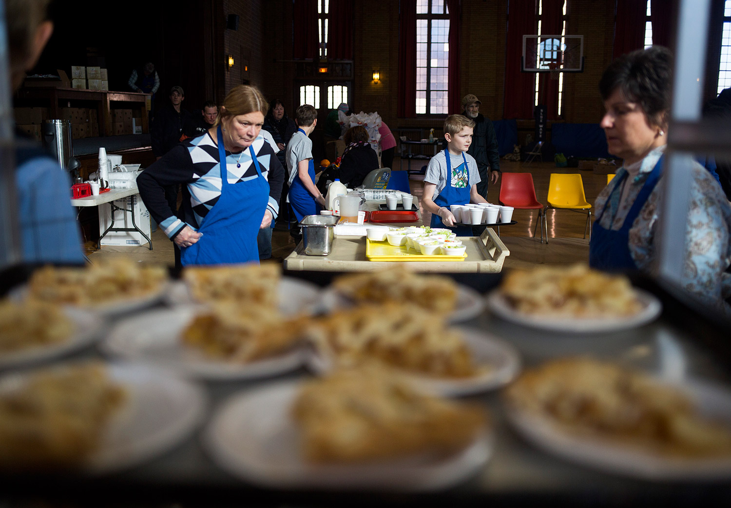 Photos: Thanksgiving Came A Day Early At St. Vincent DePaul Soup Kitchen    Portland Press Herald