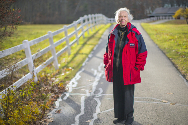 """""""Farming is my blood,"""" says Helen Norton, of Harpswell."""