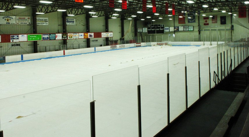 The interior of Sukee Arena in Winslow, seen Thursday, is experiencing problems with equipment it uses to make ice for the hockey season.