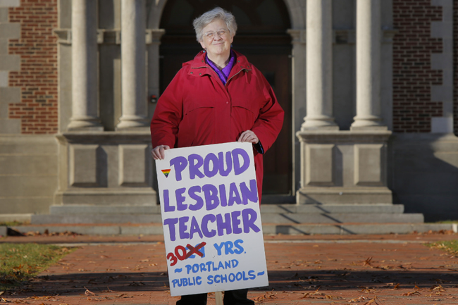 Betsy Parsons, who taught in Portland public schools for 30 years, has been an advocate for  LGBT youth.