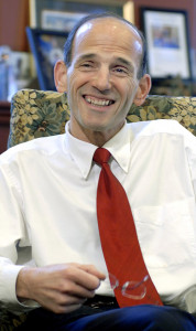 Then-Maine Gov. John Baldacci in a 2009 interview in his office. Press Herald staff photo