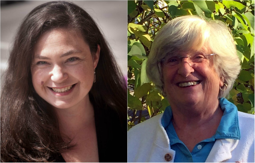 South Portland City Council candidates Kate Lewis, left, and Susan Henderson will be involved Friday in a ballot recount after finishing just 56 votes apart in last week's election.
