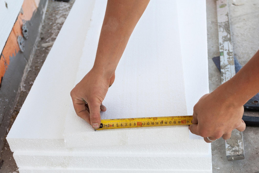 Attic hatch insulation can be made from foam panels of polystyrene.