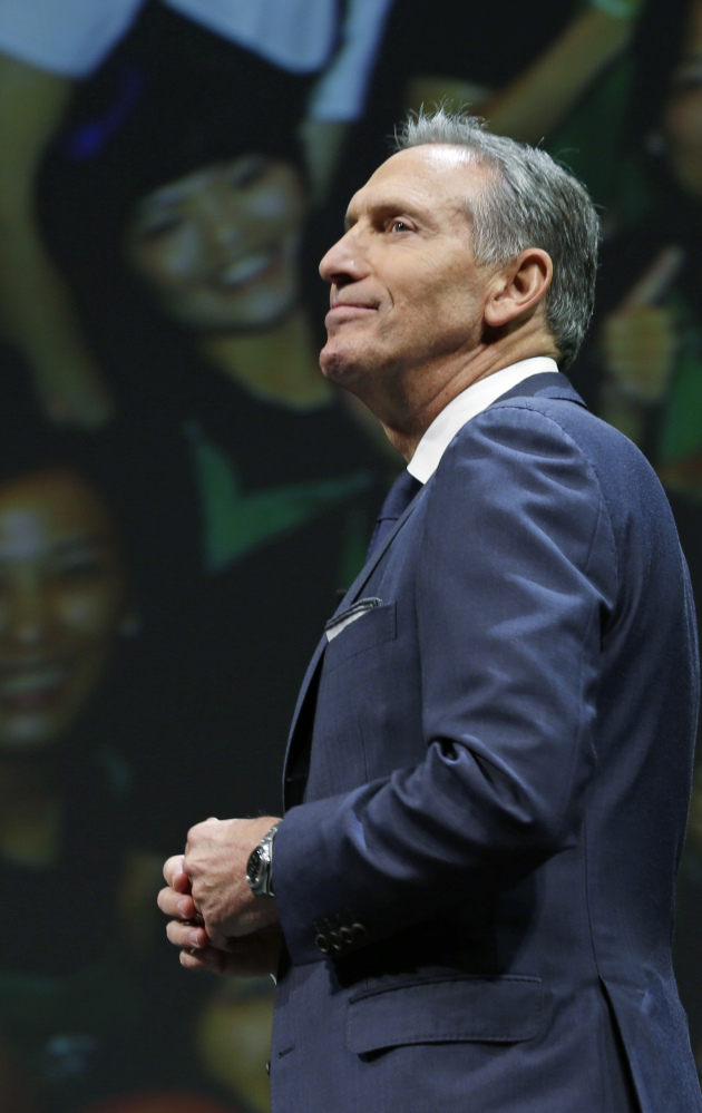 Outgoing Starbucks CEO Howard Schultz is credited with getting the coffee chain percolating again after returning as boss in 2008.