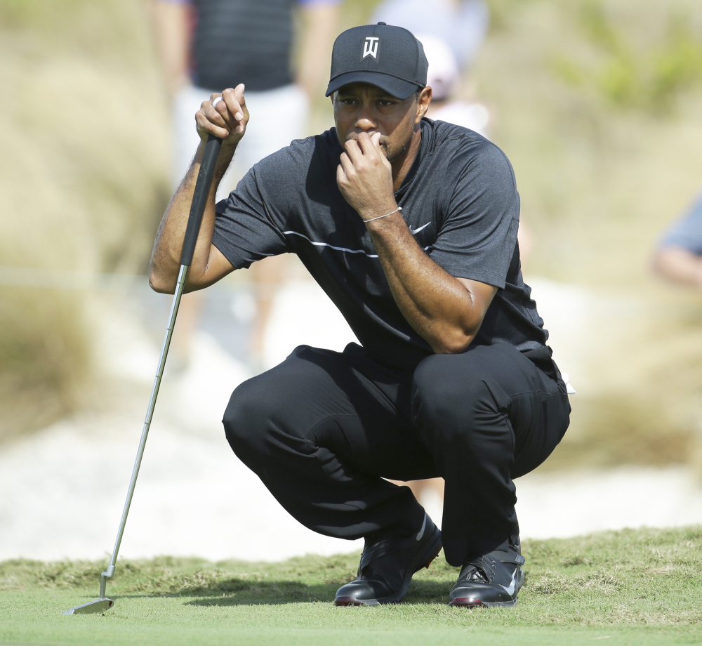 """Tiger Woods took no time feeling comfortable playing again. """"By the … second hole I had already gotten into the flow of the round,"""" he said."""