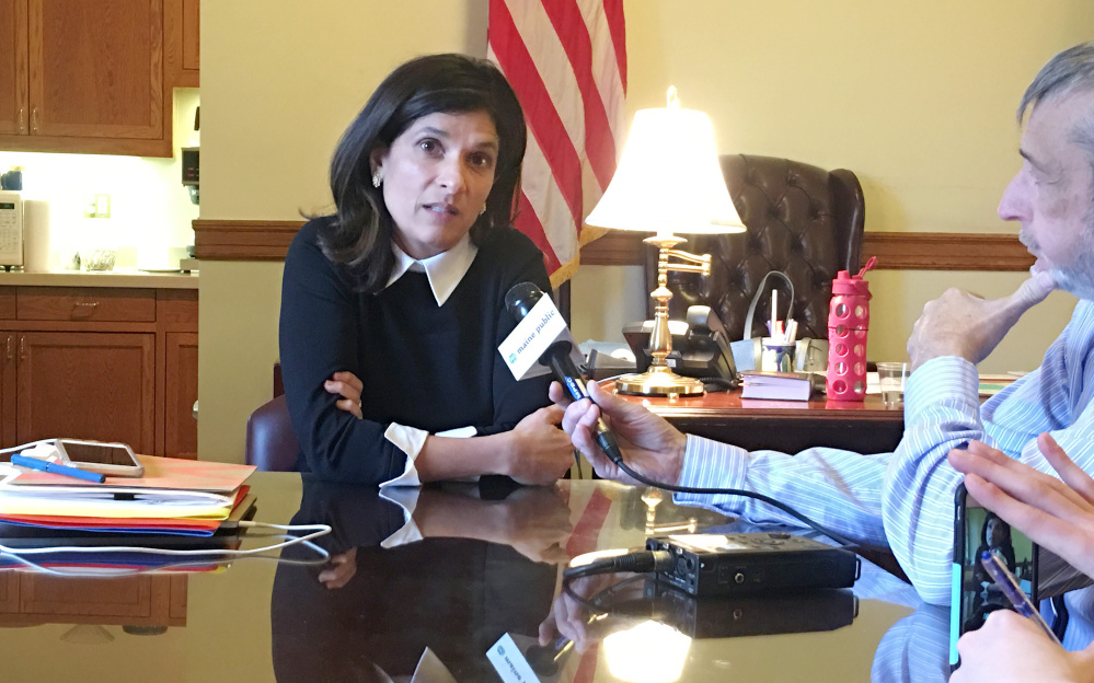 House Speaker Sara Gideon met Friday with Gov. LePage to discuss the impasse on plans for a new psychiatric treatment center in Augusta. It was the first face-to-face meeting between the governor and the new speaker, who has already made it clear she is willing to clash with the administration.