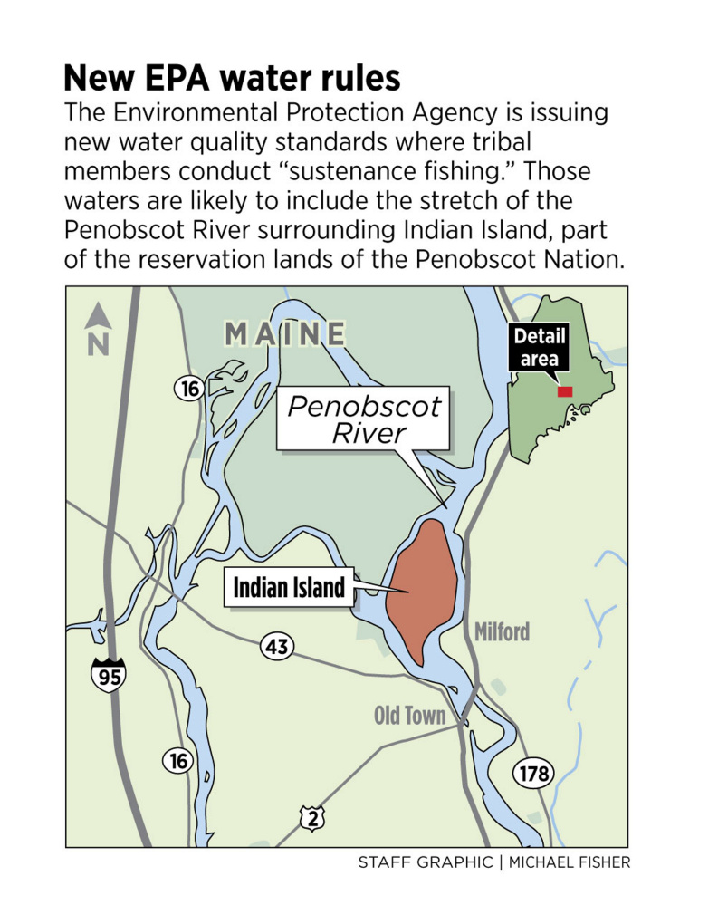 Indian Reservations Maine Map.Epa Tightens Water Quality Standards To Protect Fish Eating Maine