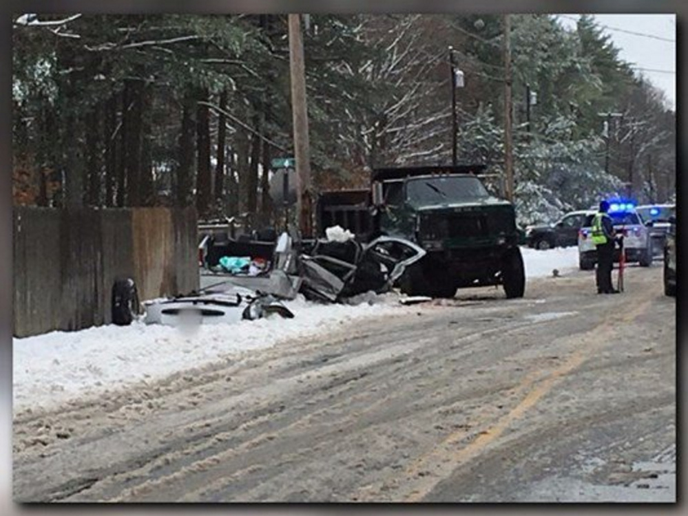 One of the three children injured in this crash in Gorham on Monday has died.