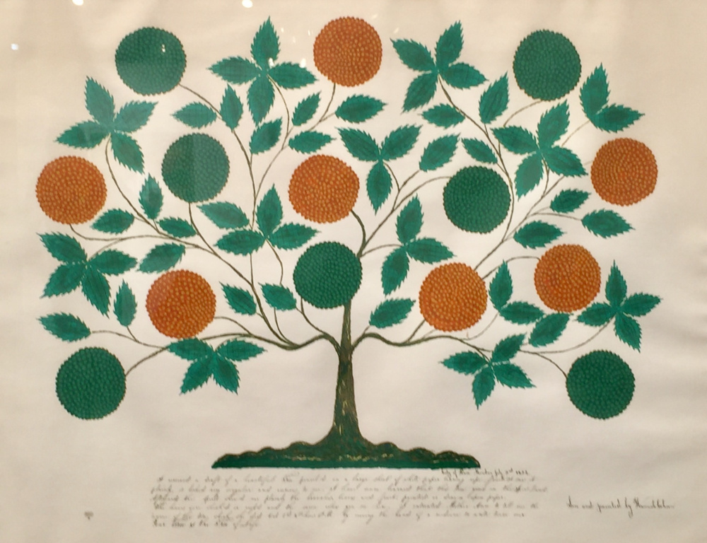 "Shaker ""gift drawing,"" historical reproduction, serigraph on paper, ca. 1970."