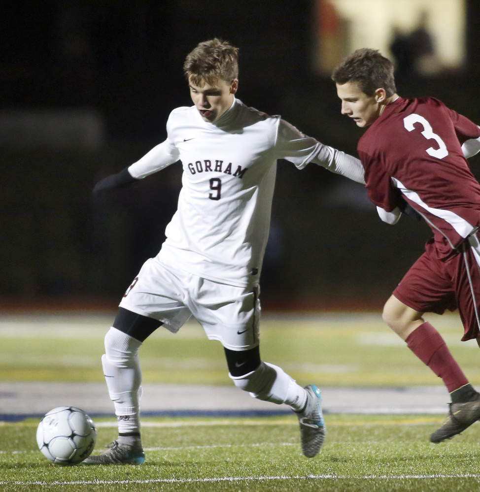 Jackson Fotter scored 65 goals in his career at Gorham, including 31 this season to help the Rams make it to the Class A state championship game. And even with a loss to Bangor on penalty kicks, Fotter has
