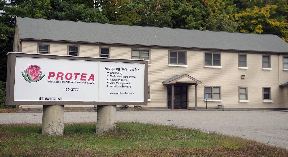 The Protea Integrated Health and Wellness campus in Hallowell, shown in this October file photo, shut its doors in September with little notice to its 300 patients who it supplied with Suboxone for treatment for heroin addiction.