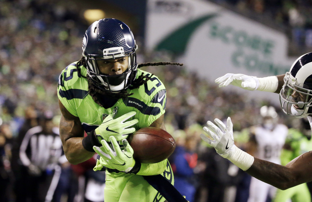 Seattle cornerback Richard Sherman was not happy last Thursday when Coach Pete Carroll called a passing play on first-and-goal from the 1 (sound familiar?) and let him know about it on the sideline with an outburst.