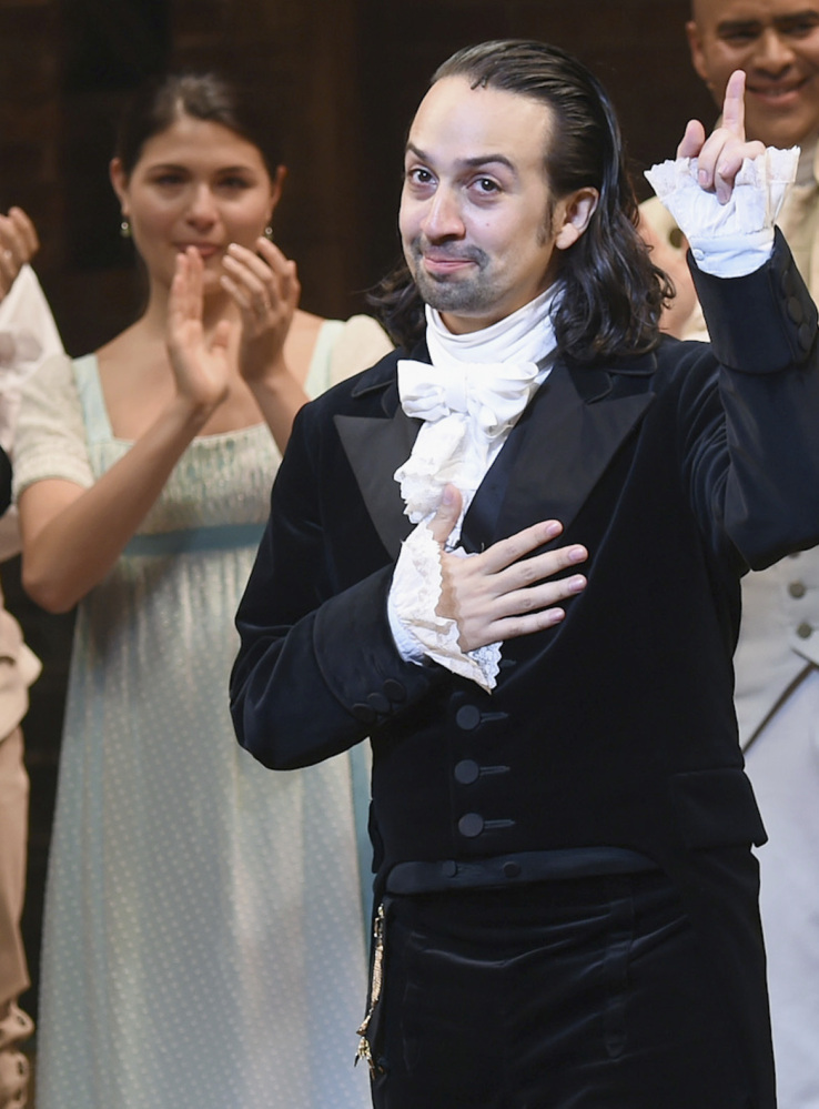 """""""There's been more than a little good luck in the year itself and the way it's unfolded,"""" says the composer Lin-Manuel Miranda."""