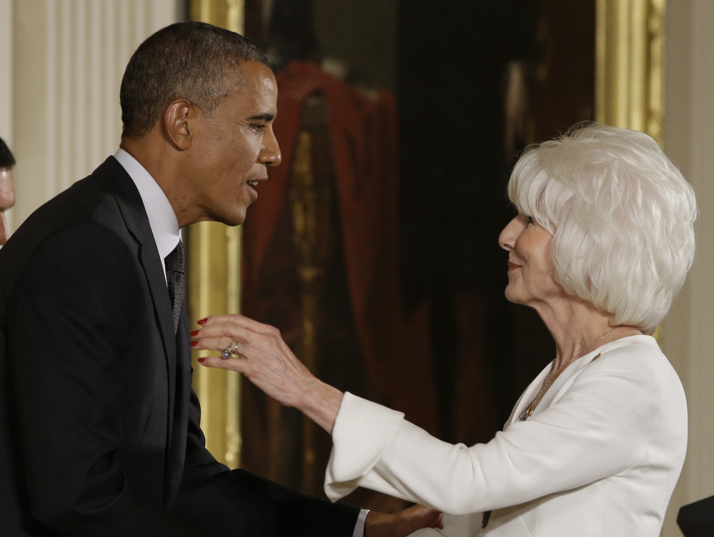 President Obama awards the 2013 National National Humanities Medal to Diane Rehm, radio host, at the White House in 2014. Associated Press/Jacquelyn Martin