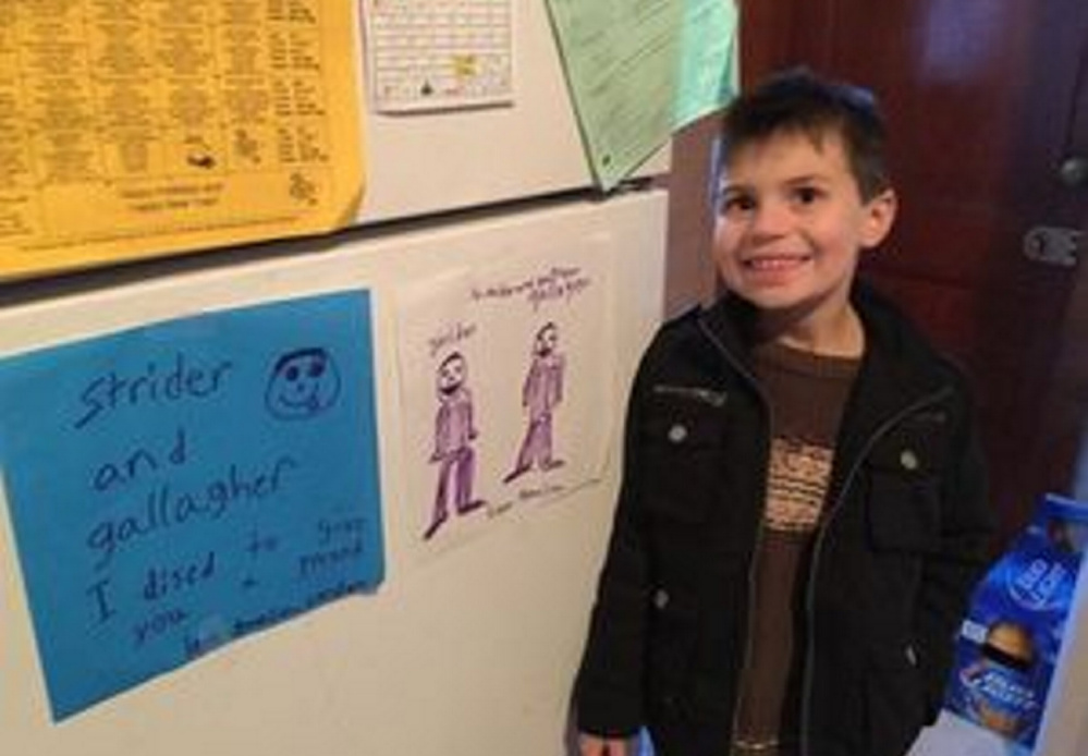 A beating in 2011 left Strider Wolf, now 7,  with tears in his intestines that caused his bowels to spill into his abdomen. The ordeal that he and his family went through elicited an outpouring of support from newspaper readers in Boston.