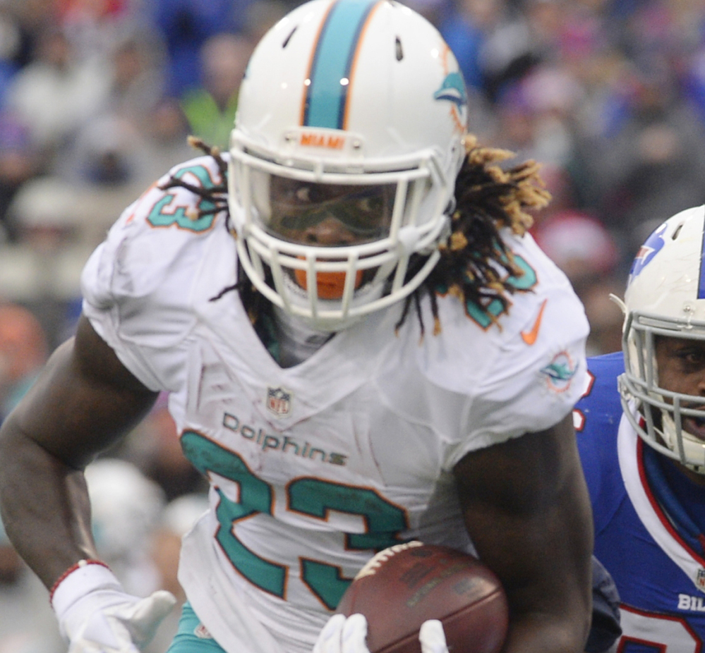 Dolphins running back Jay Ajayi surpassed the 200-yard mark for the third time this season.