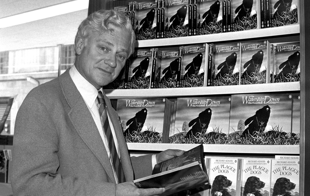 Richard Adams, shown in 1978, has died at 96.  (PA Photo via AP)