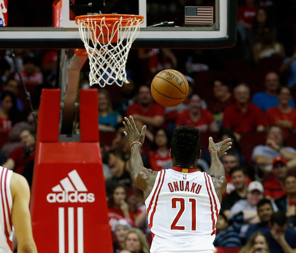 Chinanu Onuaku, making his NBA debut this week for the Houston Rockets, has improved his free-throw shooting immensely since giving underhanded attempts a try.